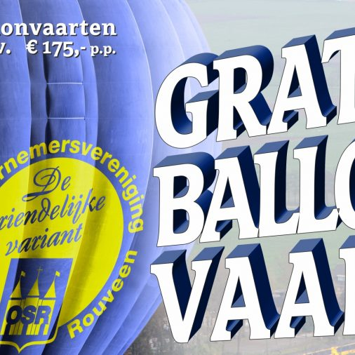 Gratis in een luchtballon over Staphorst